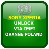 Unlock SonyEricsson Sony Xperia Orange Poland via IMEI